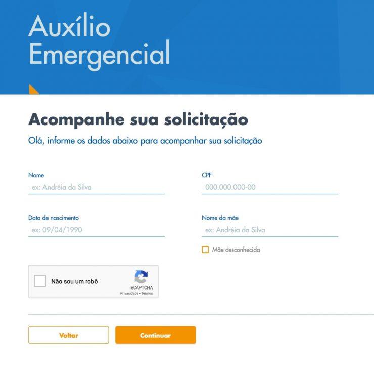 Contestar auxílio emergencial negado
